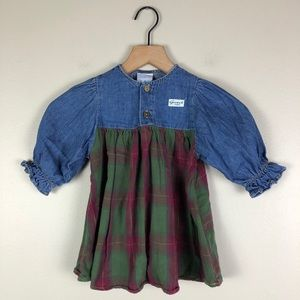 Baby Guess Jeans Vintage Plaid Dress Size 2 Years